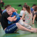 Forældre barn hold er lig med familiehold