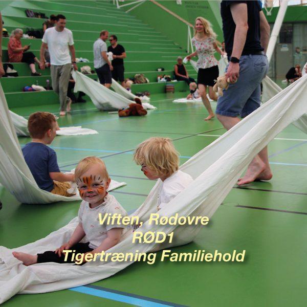 Tigertræning-RØD1 – 2½-3 årig Familiehold for børn og voksen i Viften