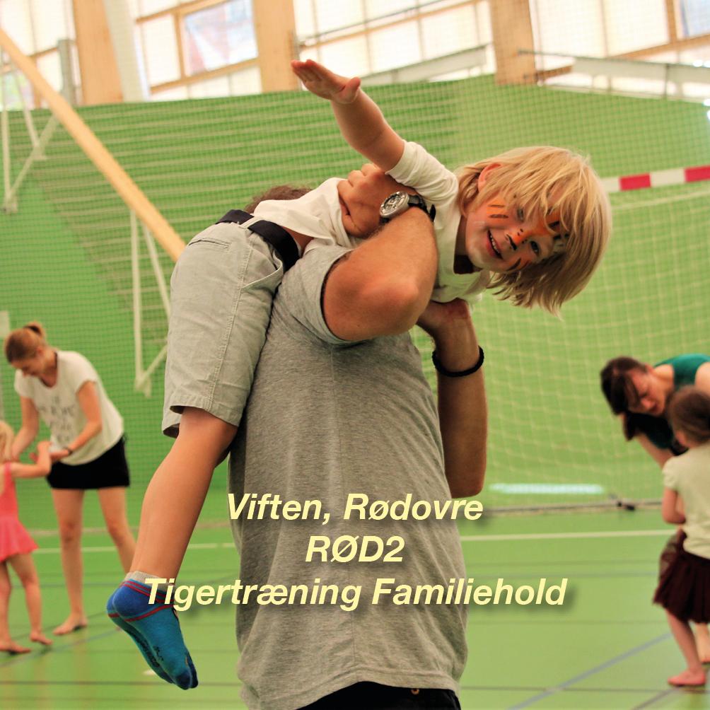 Tigertræning-RØD2 – 4-6 årig Familiehold for børn og voksen i Viften